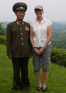 Judy Chovan in North Korea - Contributed photo