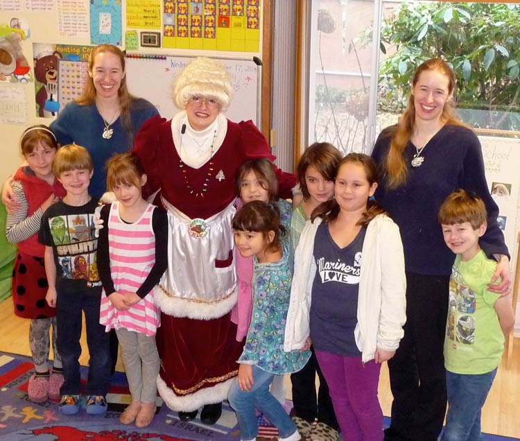 Mrs. Santa Claus visited the kids at Stillpoint School - Contributed photo