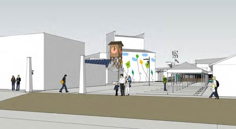 One of many drawings in the Sunshine Alley plan