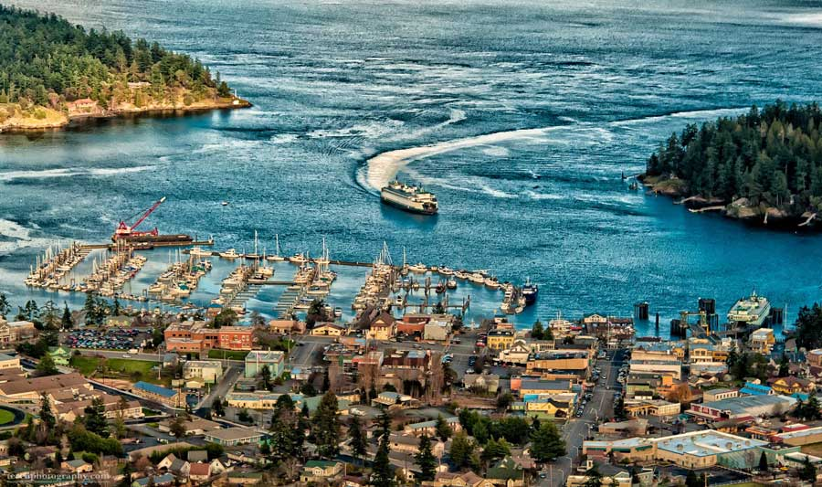 Friday Harbor from the Air on December 28, 2014 - Chris Teren photo