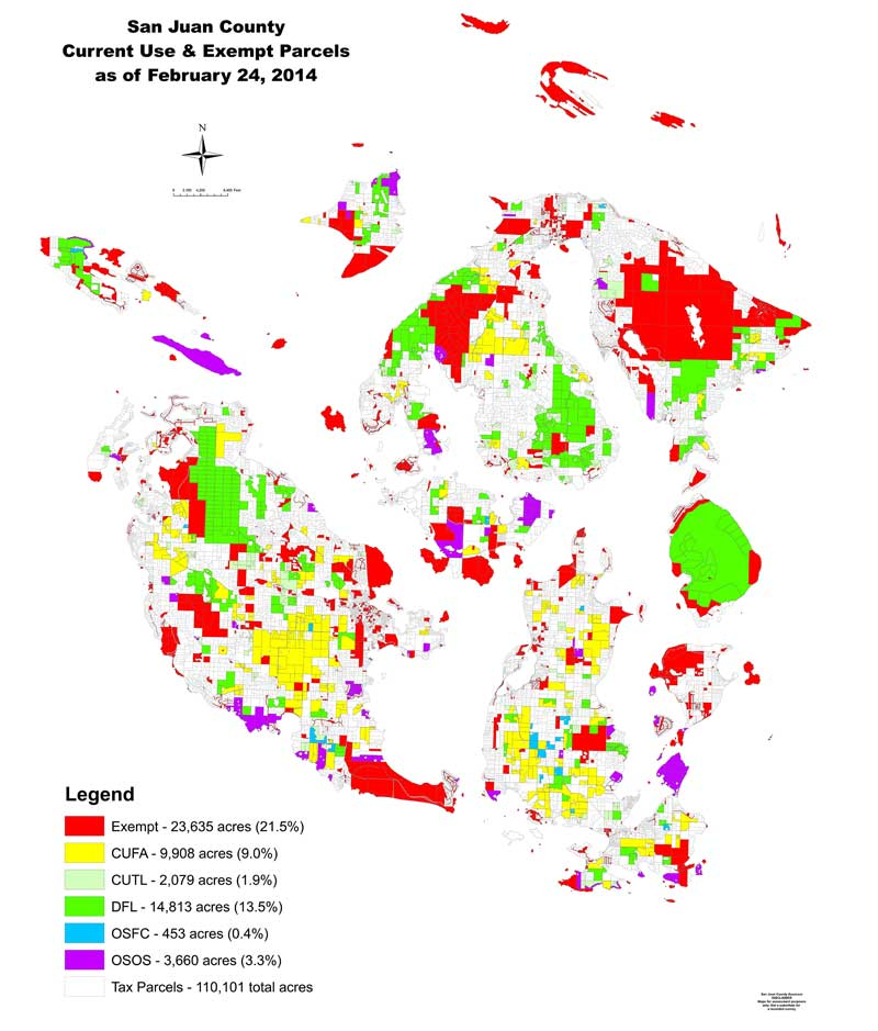 Map of Exempt Parcels in 2014 - Click to enlarge