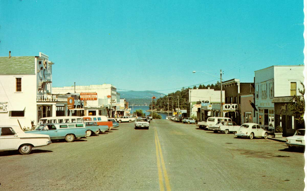Downtown Friday Harbor in the 1960's - Contributed photo
