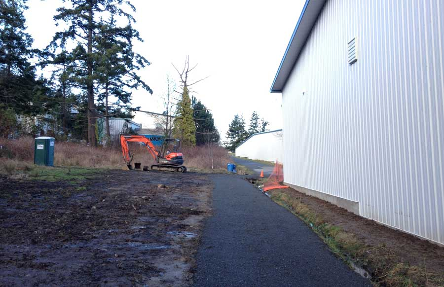 An improved section of the American Camp Trail near the Airport - SJ Update staff photo