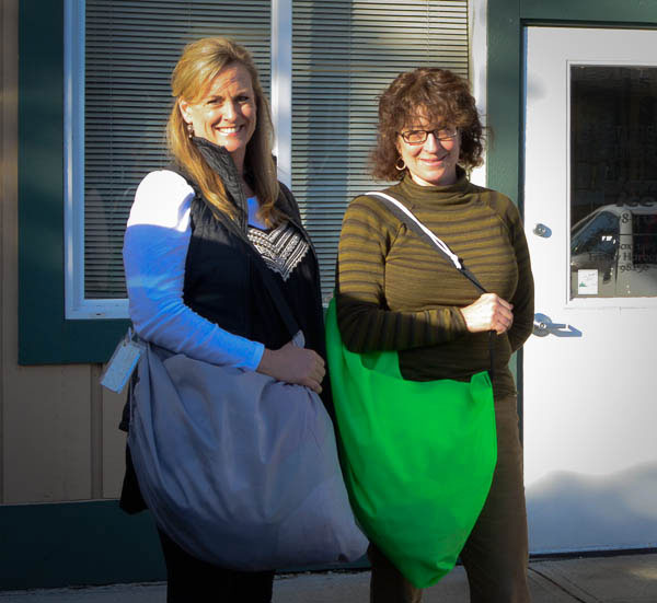 Jaime Justiniano and Barbara DeFalco are the proud owners of the new Blue Sky Laundry service in Friday Harbor - Tim Dustrude photo