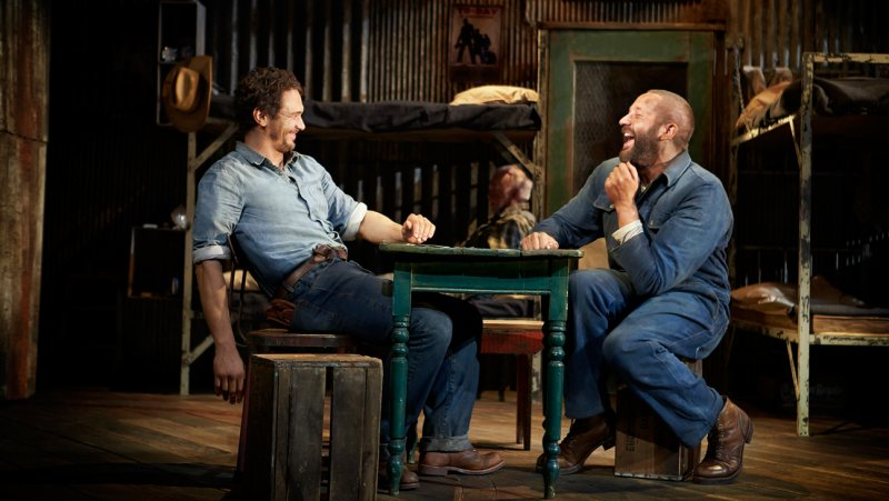James Franco and Chris O'Dowd in Steinbeck's Of Mice and Men - Richard Phibbs photo