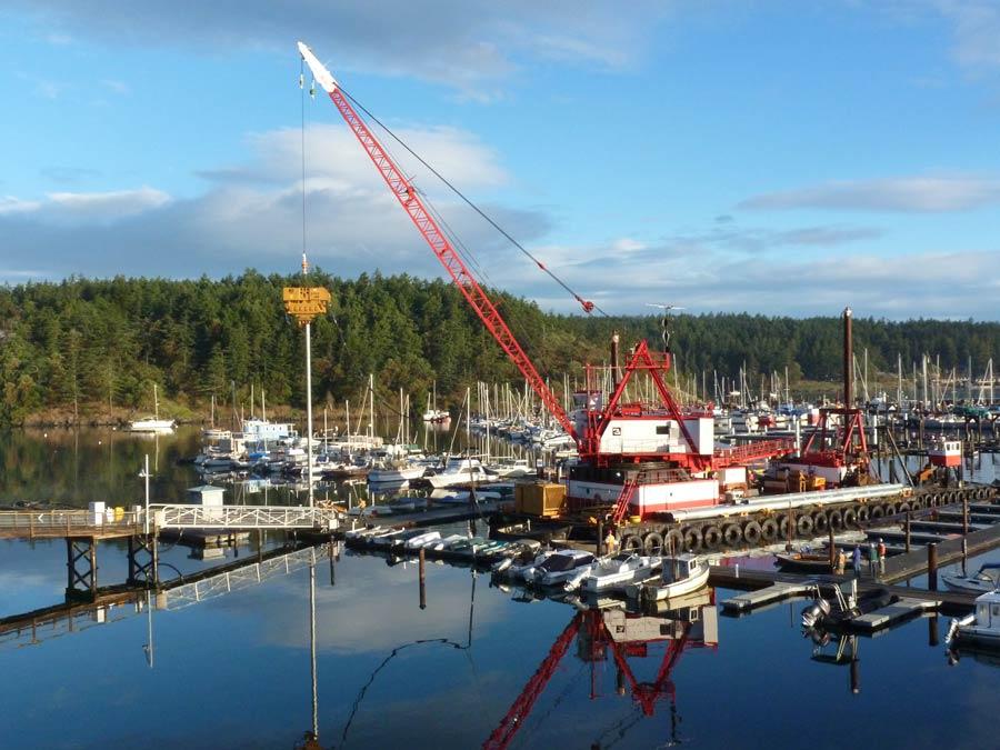 Port of Friday Harbor Marina construction - Port of F.H. photo