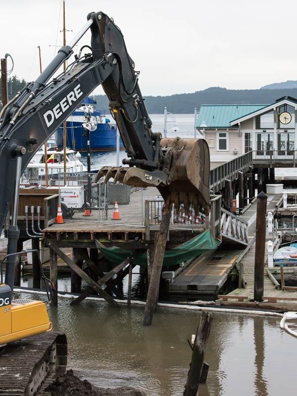 Shoreline construction in progress - Aaron Shepard photo