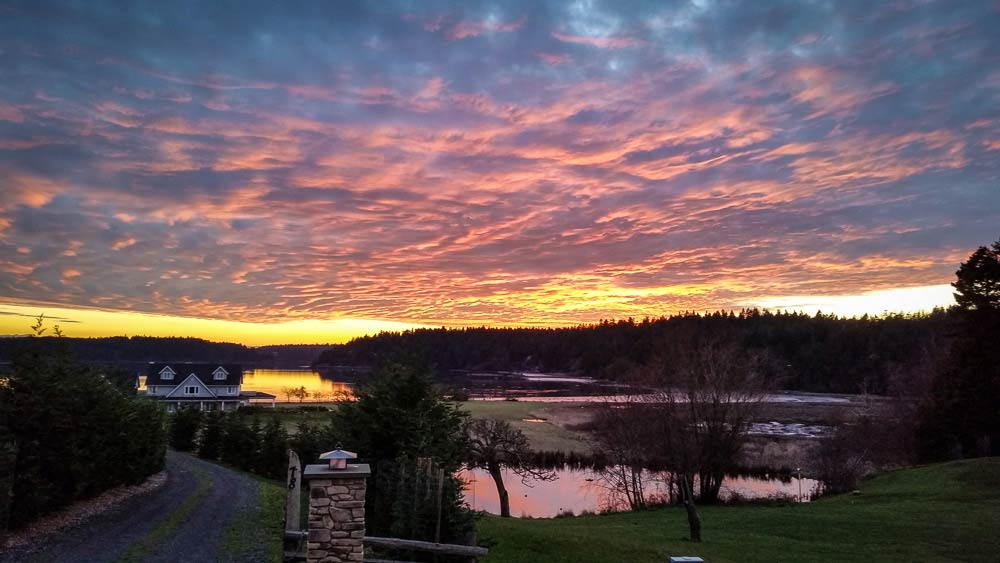 Sunset over Westcott Bay - Kevin Holmes photo