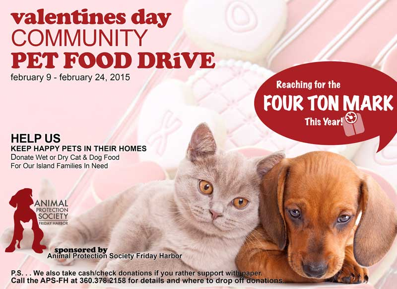 2015 Valentine S Day Community Pet Food Drive San Juan Island Update