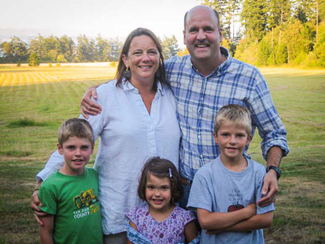 Shown here with his family, Scott Zehner will lead this month's Know Your Island Walk - Contributed photo