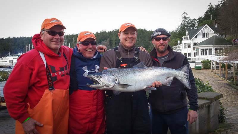 David Reep, Mt. Vernon, WA ~  is all smiles when his 22.3 oz. beauty knocked the 21.13 oz fish to second place late Friday - Contributed photo
