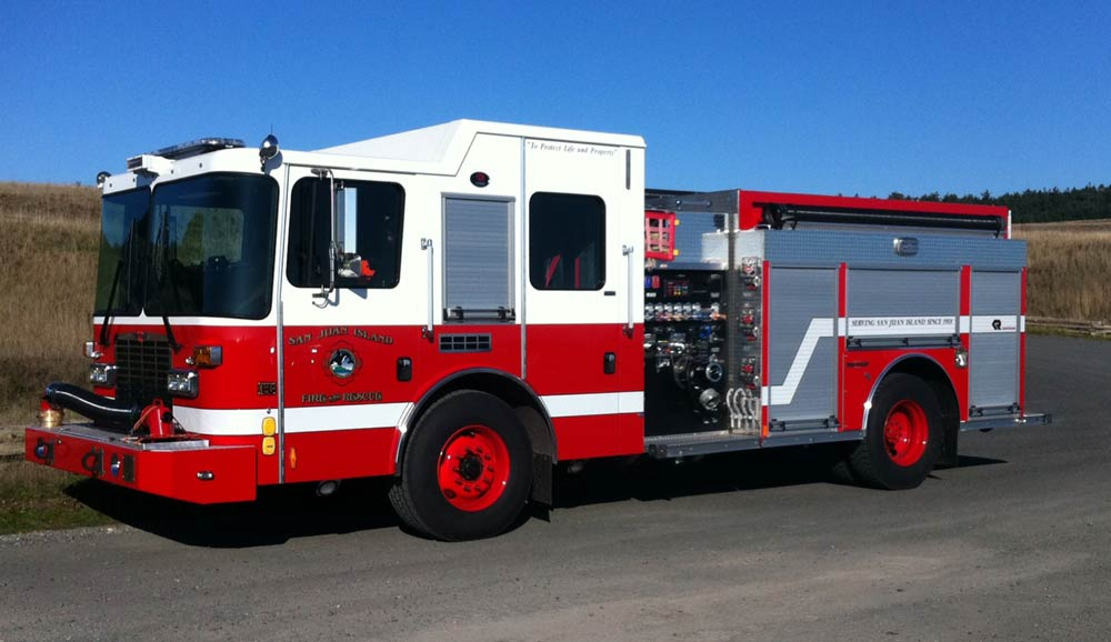 One of six new Fire Engines - Lt. Tom Eades photo