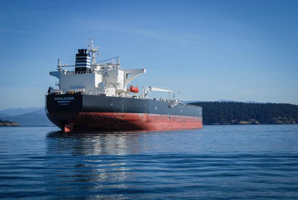 Oil Tanker at anchor near the March Point refineries - Tim Dustrude photo