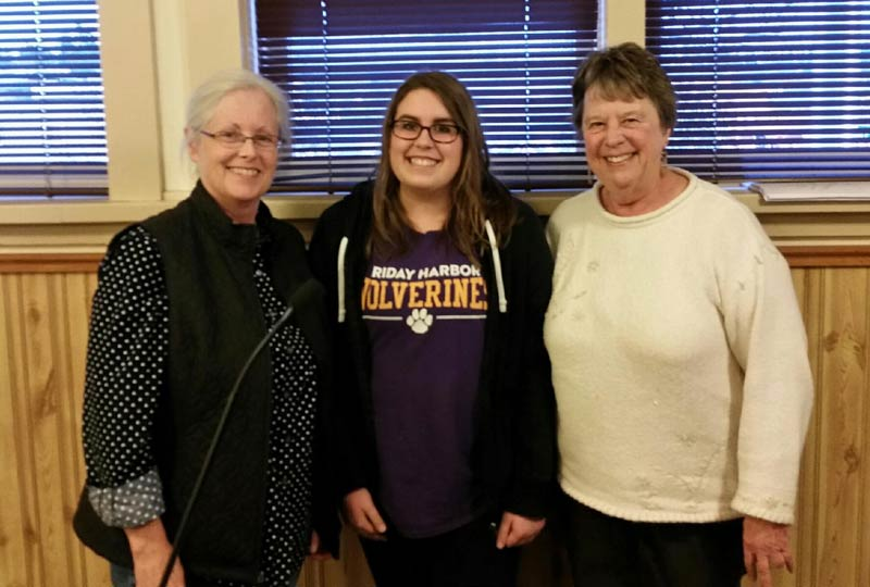 Mayor Carrie Lacher with newly appointed student Arts Commissioner Audrey Sable and Arts Commissioner Lori Stokes - John Sable photo