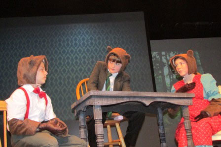 Ryker Mattox as Baby Bear, Luke Erickson as Papa Bear and Annemarie Ryan as Mama Bear - Contributed photo
