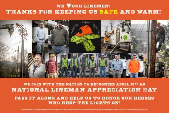 Lineman-Day-signage