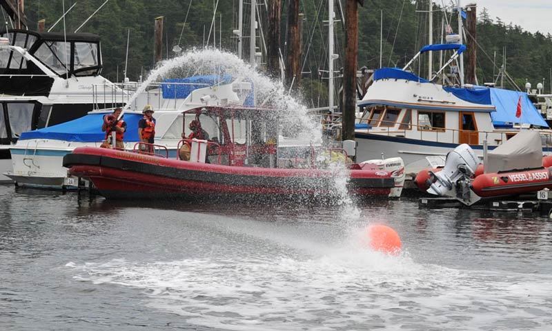 Fireboat demonstration - Contributed photo