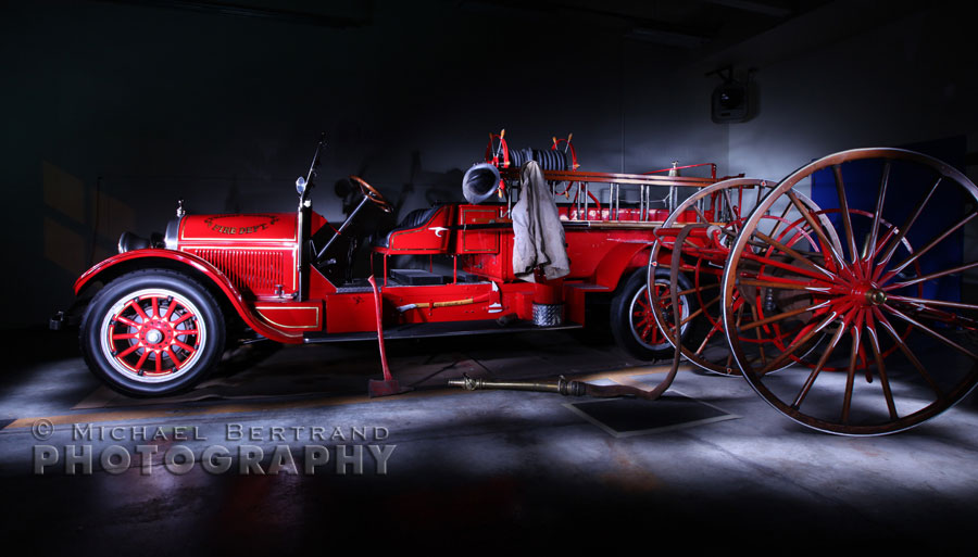 "Vintage fire engine to be named ""The Bill LaPorte"" - Photo by Michael Bertrand Photography"