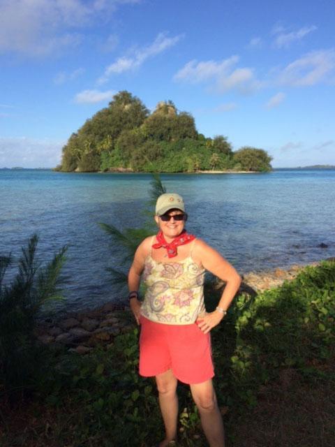 Lynn Danaher on Raivavae - Contributed photo