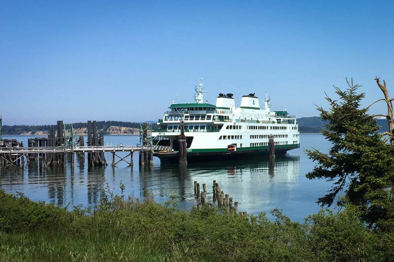 The ferry Samish at the auxiliary dock in Anacortes last Sunday - Tim Dustrude photo