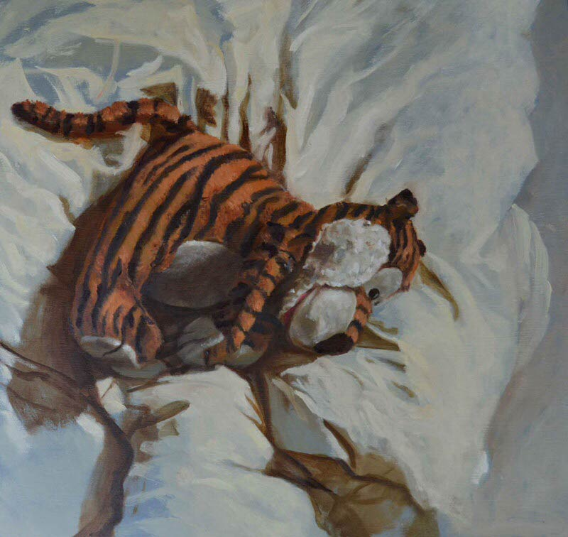 Stuffed Tiger - A painting by Anelecia Hannah Brooks