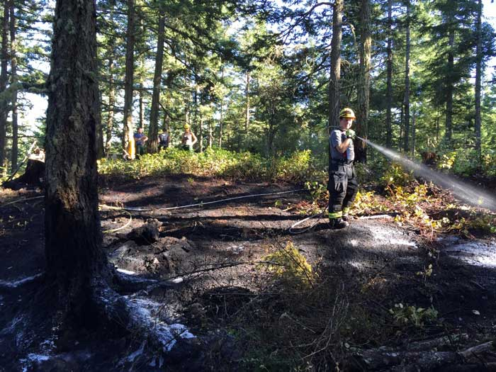 Fire at Turtleback Mountain Preserve - Contributed photo