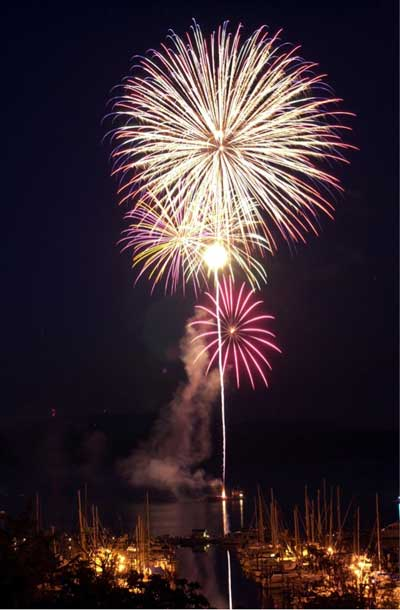 Fireworks over the harbor - Contributed photo