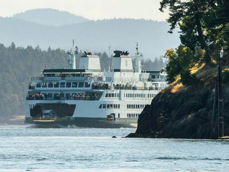 The newest Washington State Ferry M/V Samish enters Friday Harbor - Aaron Shepard photo