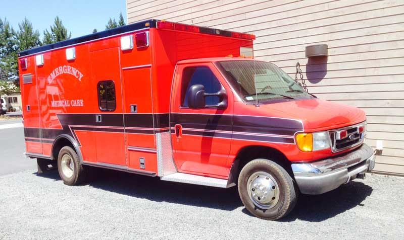 San Juan Island EMS has a new (used) ambulance - Contributed photo