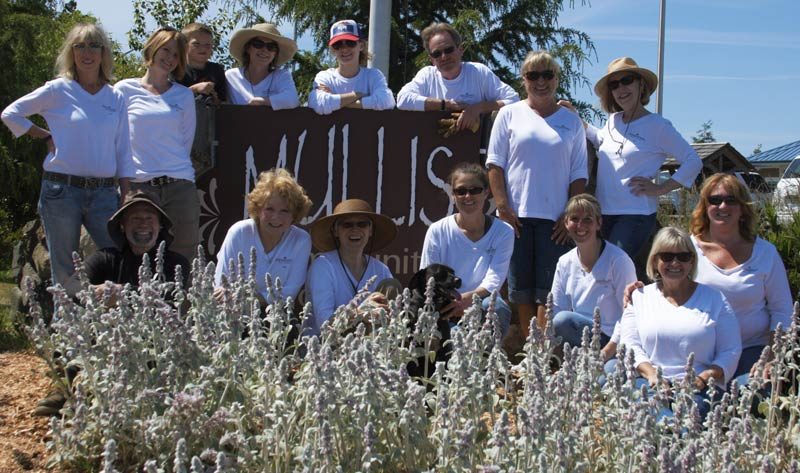 Windermere San Juan Island Community Service Day 2015, Mullis Center beautification project - Contributed photo