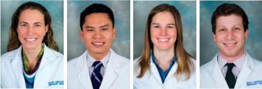 UW Division of Emergency Medicine Residents Class of 2016 -  Olivia Haesloop, MD (July); Sean Nguyen, MD (July); Allison Moyes, MD (August) and Scott Schwitz, MD (August) - Contributed photos