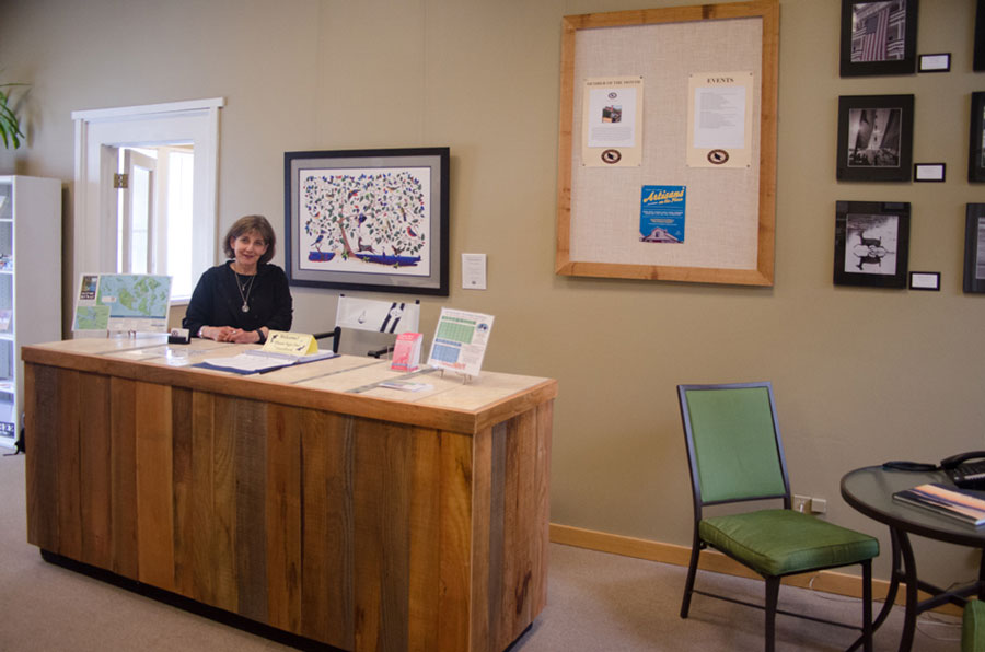Becki Day, Executive Director at the newly renovated office of the Chamber of Commerce - SJ Update photo