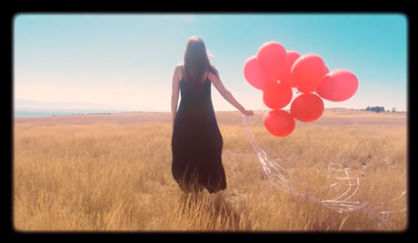 A screen capture from Shelby Earl's new video, shot here on San Juan Island.