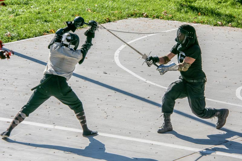 Longsword practice in Sunken Park - Aaron Shepard photo