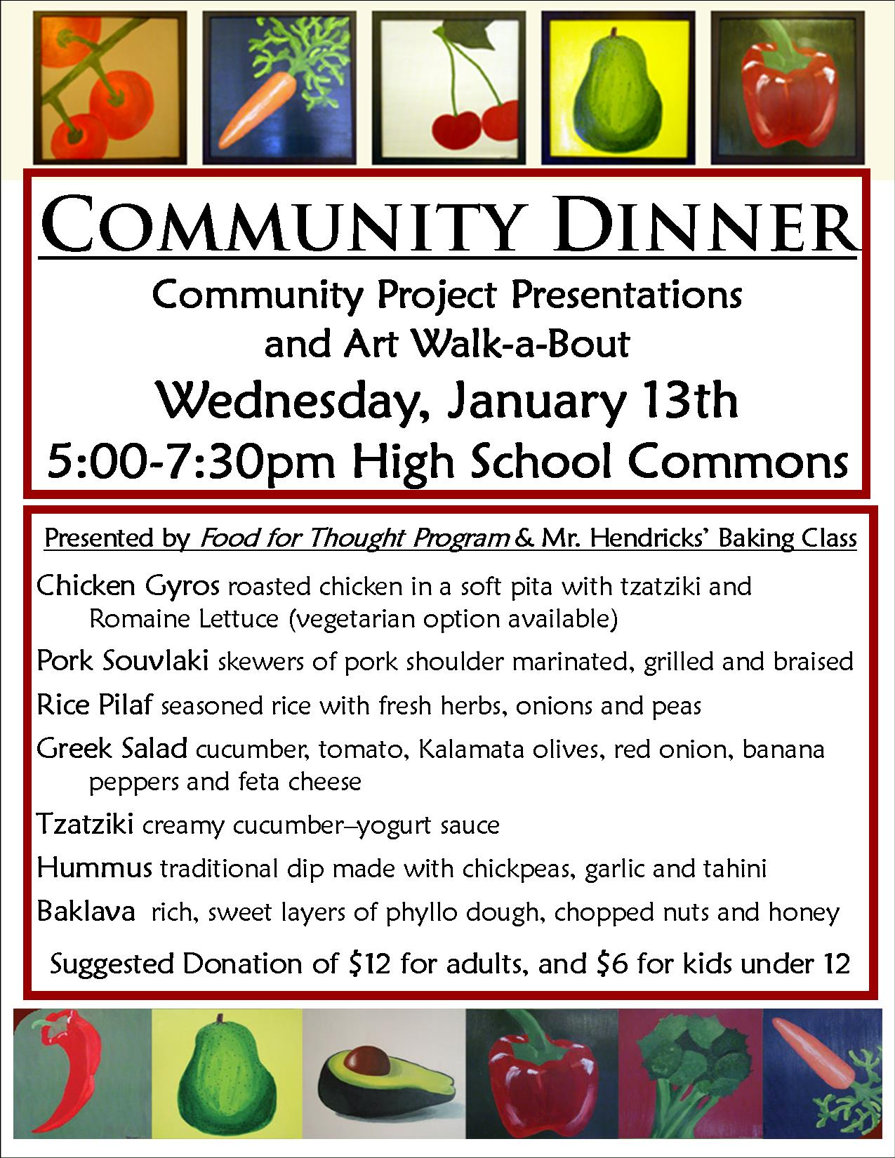 January Greek Community Dinner Flyer 15-16
