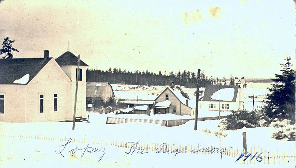 Snow on Lopez 100 years ago this month - SJ Historical Museum photo