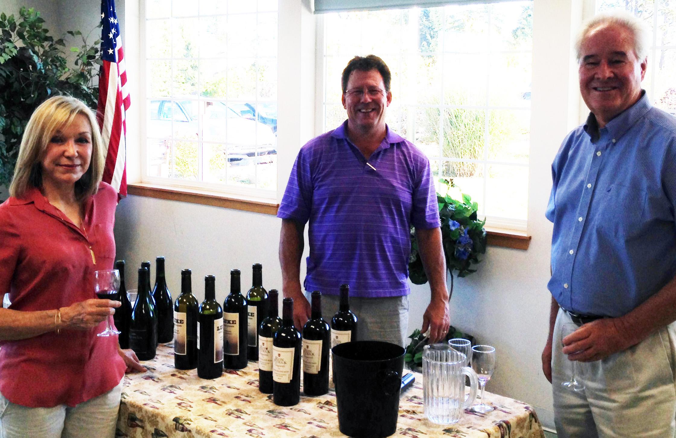 Wine Tasting - Photo courtesy Mullis Community Senior Center