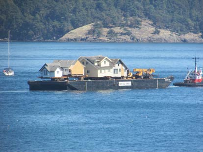 Houses on Barge - Contributed photo