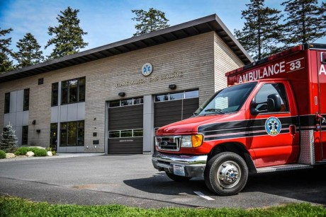 EMS Building and Ambulance - Tim Dustrude photo