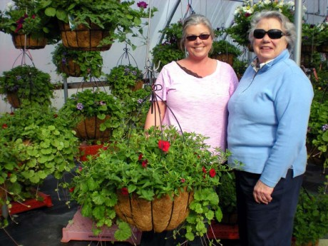 Sandy Jenson of Channel View Nursery and SJI Garden Club Co-Chair Marguerite Bennett - Photo by Carole Sue Conran