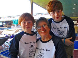 Luke and Zach Fincher and their Nana - Contributed photo
