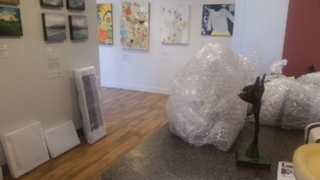 Unpacking at WaterWorks Gallery - Contributed photo