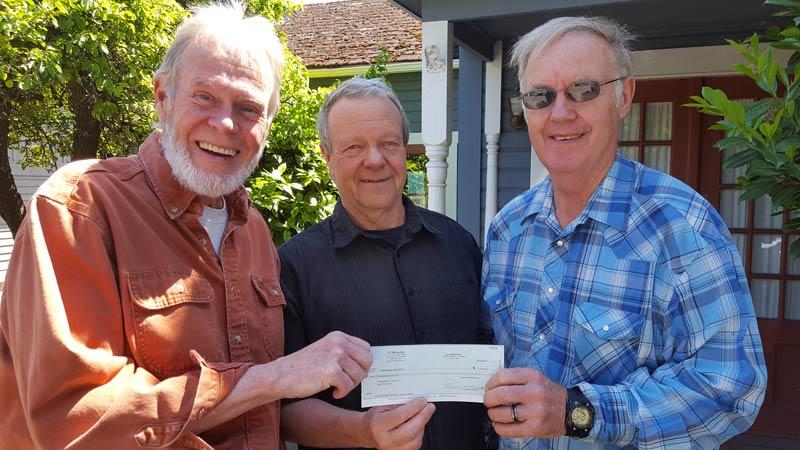 Left to right: John Ellis, Pastor Joe Bettridge, and Frank Penwell - Contributed photo