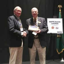 Myhr receives NWPPA award - Contributed photo