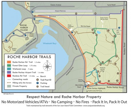 Roche Harbor Trails map courtesy of SJI Trails Committee