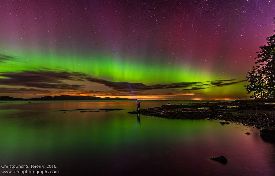 Northern Lights over Boundary Pass - Chris Teren photo
