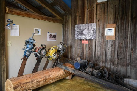 Part of the new Logging Exhibit at MHI - Tim Dustrude photo