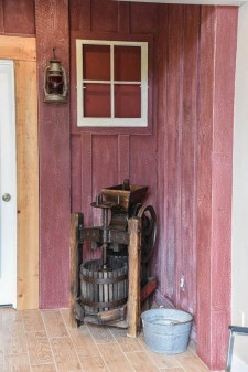 Dodie Gann's apple cider press is on display at the MHI - Tim Dustrude photo
