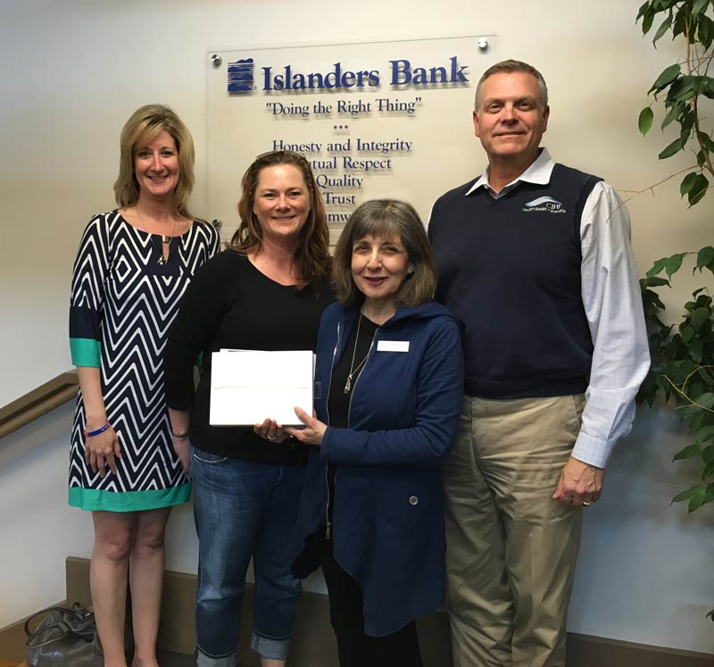 Pictured above: Islanders Bank E-Banking and Treasury Support Services Manager Michelle Morton, Teri Gentry, Chamber Executive Director Becki Day andIslanders Bank President Brad Williamson - Contributed photo
