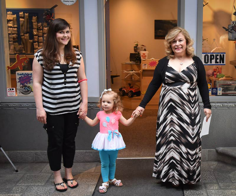 3 Generations - Heather Easley, Lily Easley and Debbi Staehlin at the Ribbon Cutting celebration of My RC Vision - Tim Dustrude photo